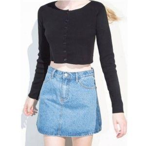 Brandy Melville Athelia Knit Sweater Cardigan Top